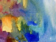 Texturerat färgrikt för abstrakt begrepp för vattenfärgkonstbakgrund Royaltyfria Bilder