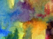 Texturerat färgrikt för abstrakt begrepp för vattenfärgkonstbakgrund Arkivfoto