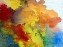 Texturerat färgrikt för höst för abstrakt begrepp för vattenfärgkonstbakgrund Fotografering för Bildbyråer