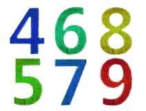 texturerat grungenummer Arkivbilder