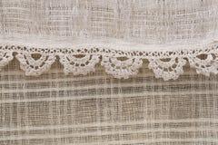 texturerat linne Arkivbild
