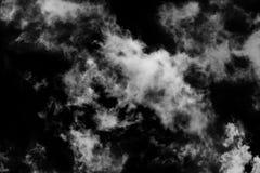 Texturerat moln, abstrakt begreppsvart som isoleras på svart bakgrund Royaltyfria Foton