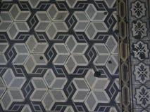 Texturerat mosaikgolv Arkivfoto