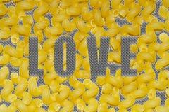 Texturerat ord 'förälskelse 'på bakgrunden royaltyfri illustrationer