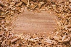 texturerat trä för bakgrund shavings Arkivfoto
