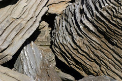 Textures. And a structures of the rocks in a bay in a North of island of Majorca in Spain stock photography