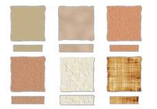 Textures avec les bords déchirés Photographie stock libre de droits