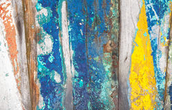 Textures background of brightly colored panels of wooden boards. Patterned and textures background of brightly colored panels of weathered painted wooden boards Stock Photography