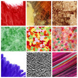 Textures and backgrounds collage Stock Photo