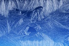 Frost pattern on a window glass Royalty Free Stock Image