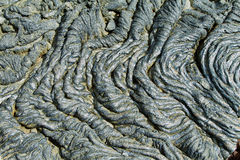 Textures of black lava (pahoehoe) in Santiago island Royalty Free Stock Photography