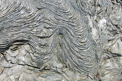 Textures of black lava (pahoehoe) in Santiago island Stock Photography