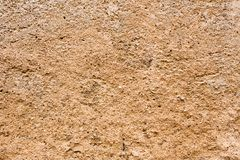 Textures - Brownish Concrete Wall Royalty Free Stock Photo