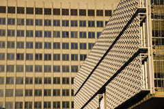 Textures on buildings in downtown Memphis Royalty Free Stock Photography