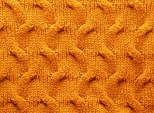 Textures - Cable Knit Material Stock Photography