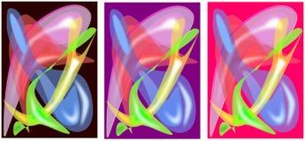 Textures colorées d'abrégé sur fond de vecteur Images stock