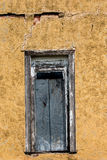 Textures colorées d'une porte abandonnée dans l'Oklahoma occidental Image stock