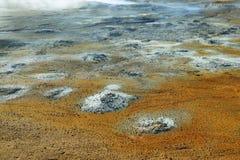 Textures colorées dans la terre Image libre de droits
