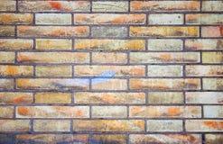Textures colorées de briques de mur Photos libres de droits