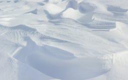 Textures couvertes par neige crue naturelle Photos stock