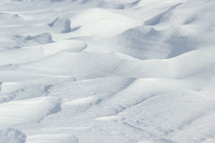 Textures couvertes par neige crue naturelle Images stock