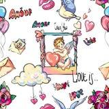 Textures d'amour Photo libre de droits