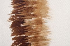 Textures d'aquarelle de Brown photographie stock libre de droits