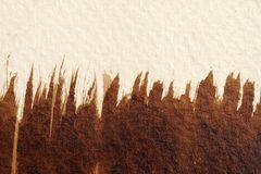 Textures d'aquarelle de Brown images stock