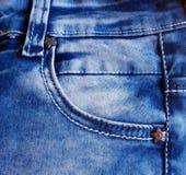 Textures de jeas de Bleu Image libre de droits