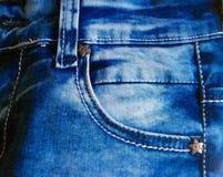 Textures de jeas de Bleu Images stock