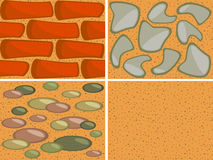 Textures de mur illustration stock