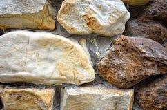 Textures de mur en pierre Photographie stock