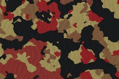 Textures de tissu de camouflage, textures Photo stock