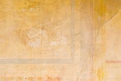 Textures des murs de couleur des ruines antiques de Pompeii image libre de droits