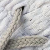 Textures du plan rapproché argenté de tissu Image libre de droits