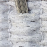 Textures du plan rapproché argenté de tissu Photo libre de droits