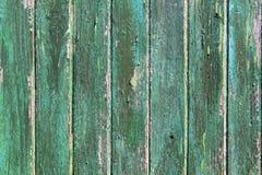 Textures en bois vertes superficielles par les agents âgées de trappe de peinture Photos stock