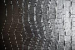 Textures en cuir noires Photographie stock libre de droits