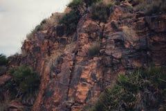 Textures en pierre colorées dans la montagne Images stock