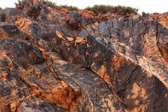 Textures en pierre colorées dans la montagne Photo stock