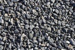 Textures en pierre grises de gravier pour le béton d'asphalte Photographie stock libre de droits