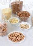 Textures et céréales Photo stock