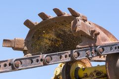 Textures et formes abstraites : Digger Machine Parts Photographie stock