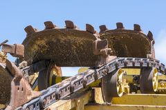 Textures et formes abstraites : Digger Machine Parts Photos stock