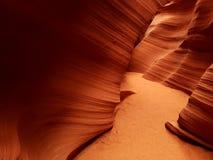 Textures et lumières, canyon d'antilope, Arizona image stock