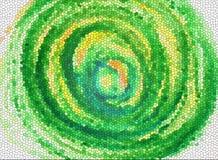 Textures et milieux verts de tourbillon Image stock