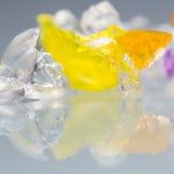 Textures et modèles abstraits des boules cassées de gelée Image libre de droits