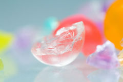 Textures et modèles abstraits des boules cassées de gelée Photographie stock