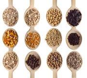 Textures et nourriture de céréale Photos stock