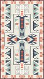 Textures ethniques sans couture de modèle Copie géométrique de Navajo abstrait Couleurs grises et oranges Photo stock
